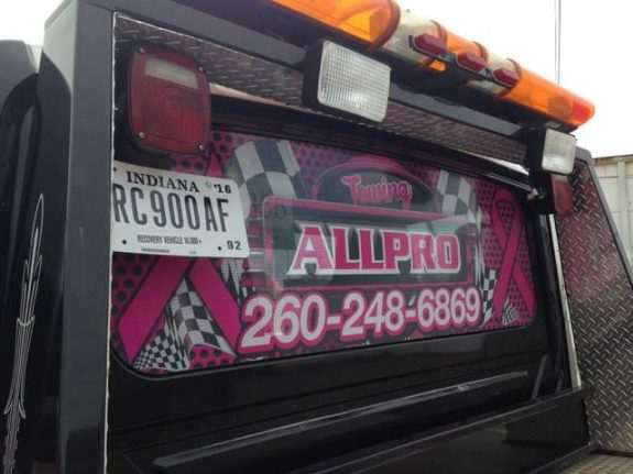 AllPro Towing - Window Graphics