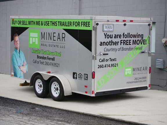 Minear Real Estate - Trailer Graphics