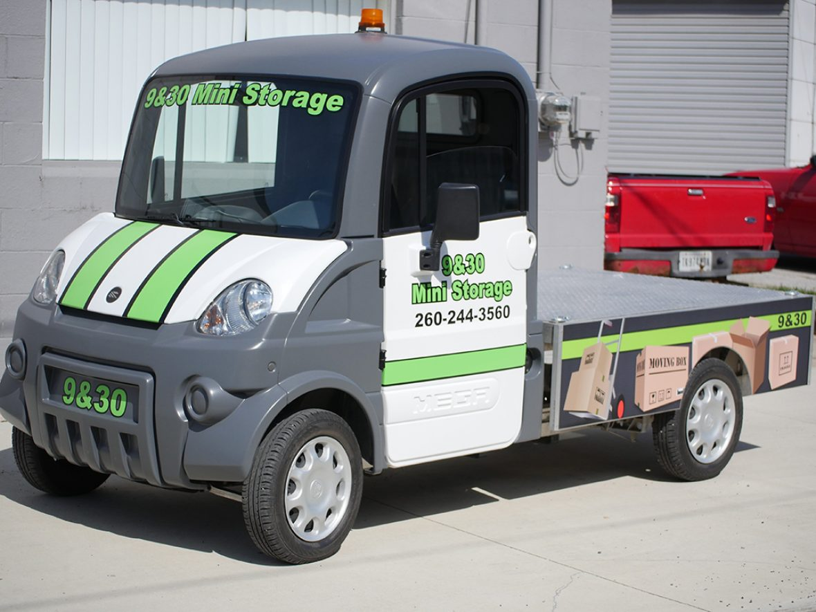 9&30 Mini Storage - Mini Truck Graphics