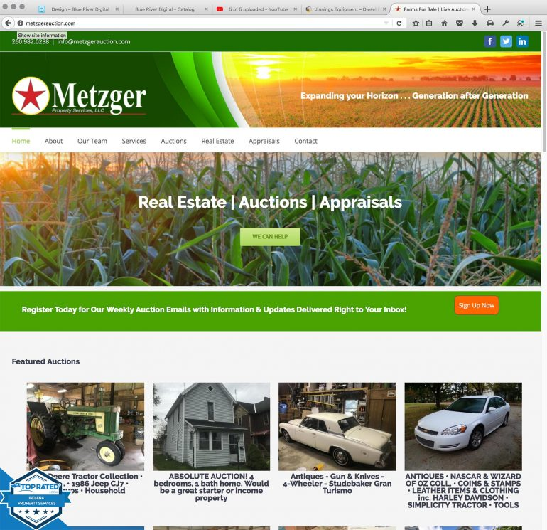 Website for Metzger Property Services, LLC