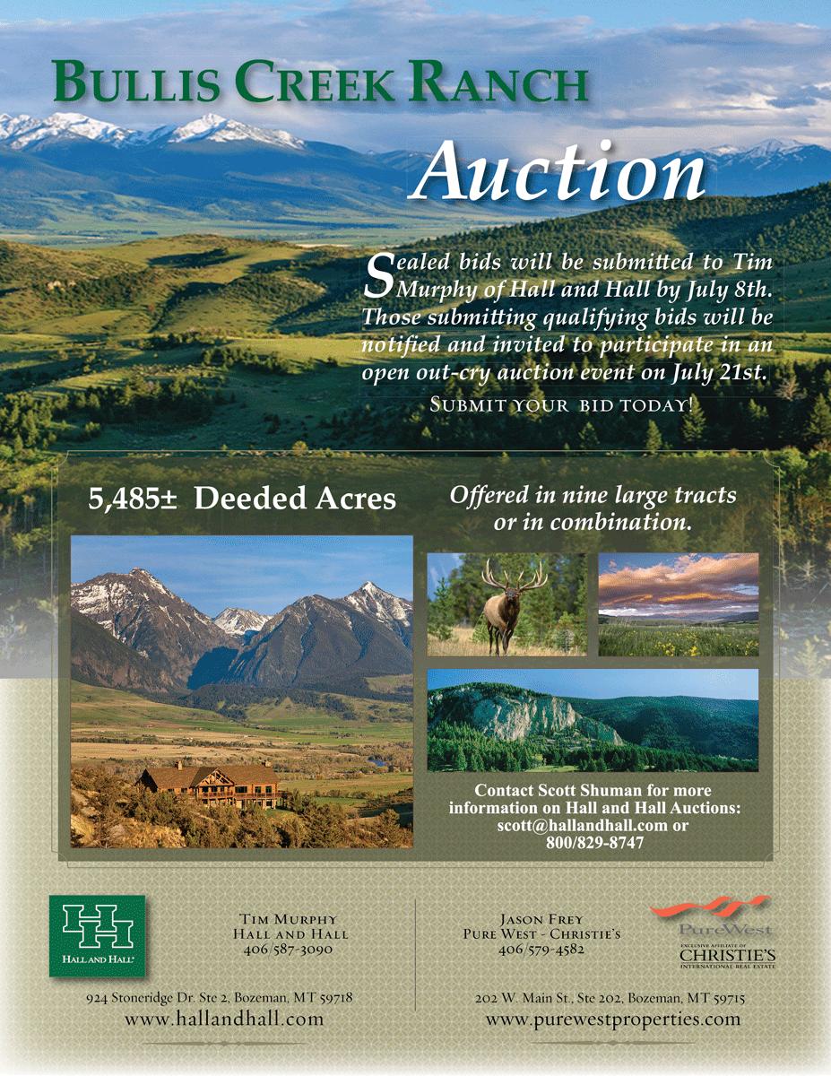 Bullis Creek Ranch Auction brochure cover