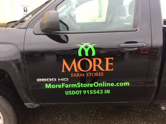 More Farm Stores vehicle graphic