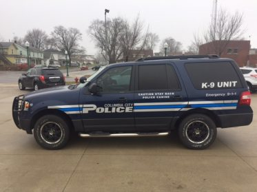 Columbia City Police vehicle graphic