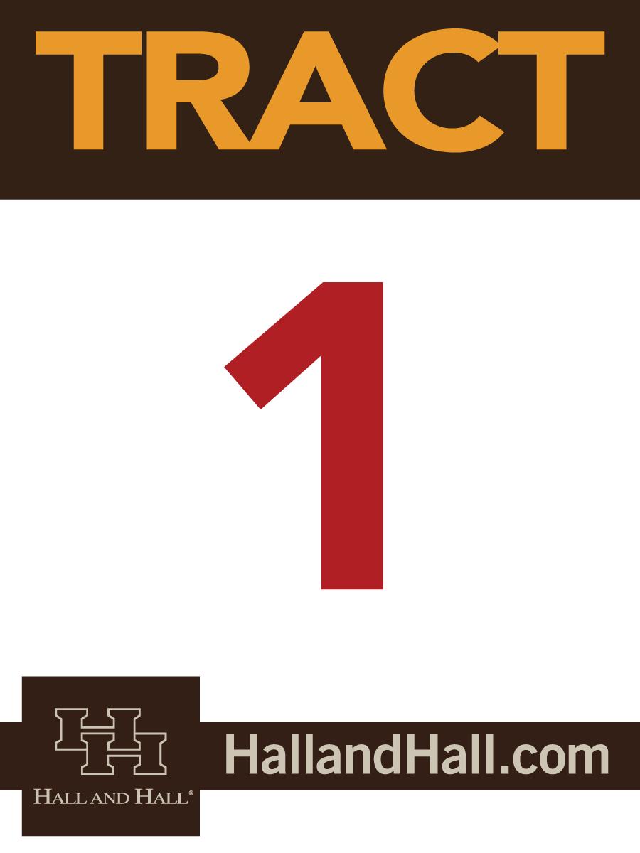 Tract sign for Hall and Hall - 1