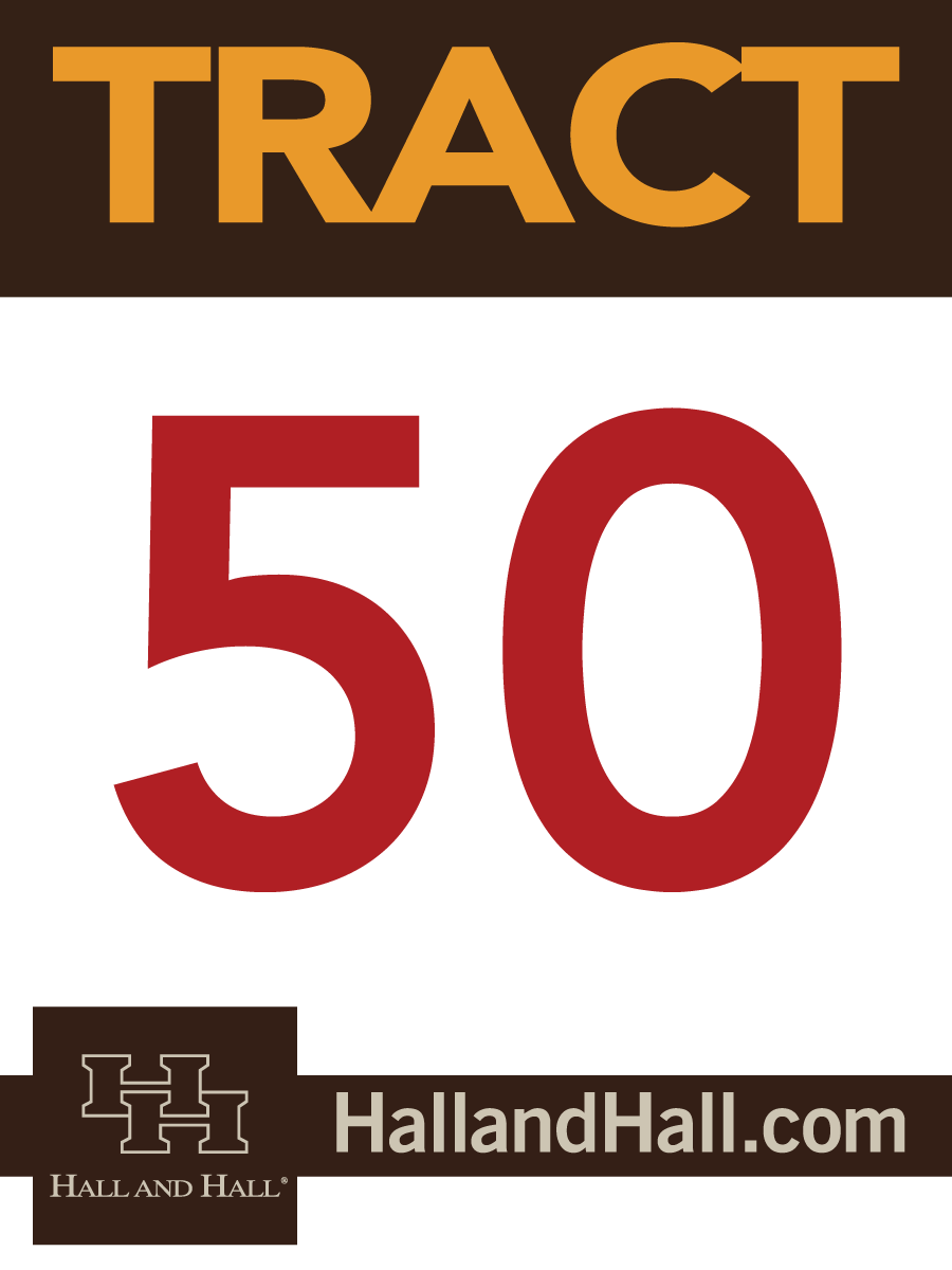 Tract sign for Hall and Hall - 50