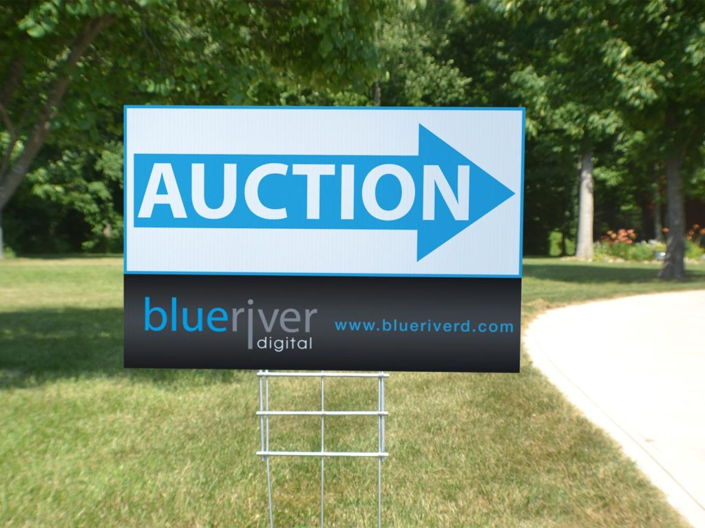 Auction 2 x 3 heavy duty yard sign