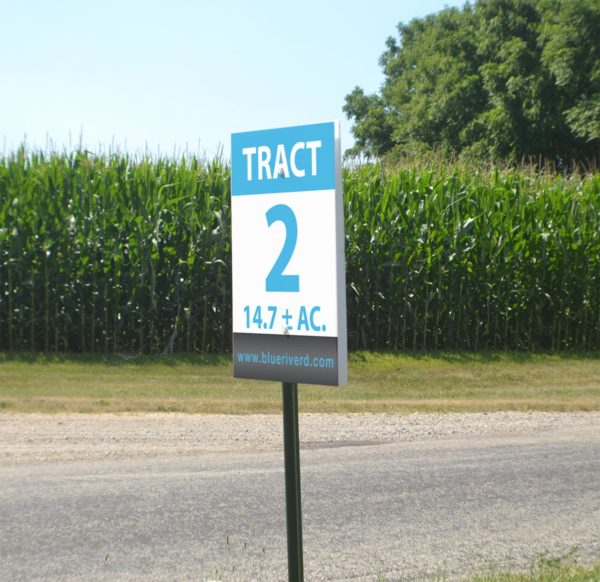 Tract double sided sign