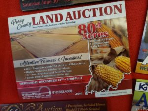 Land auction postcard