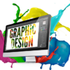 Graphic Design on a computer screen